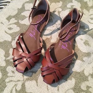 Brown Sandals with ankle strap
